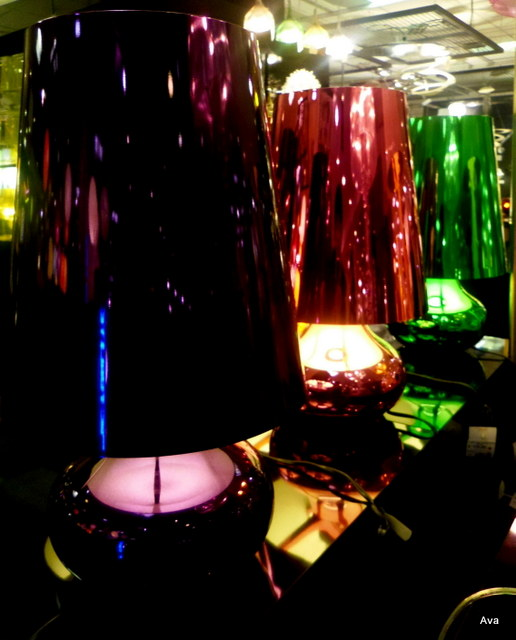 lamps, colors, reflection