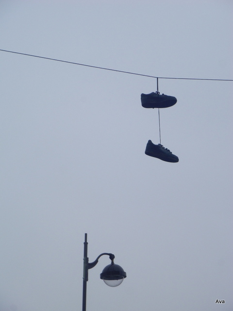 shoes in the air