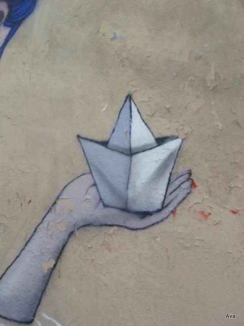 street art, navire