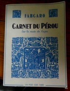 1 BLOG 1 BD : Carnet du Pérou de Fabcaro
