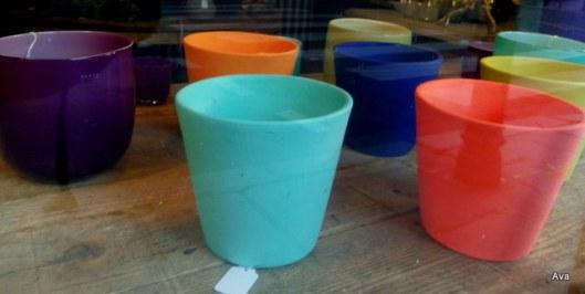 pot de couleurs, décoration