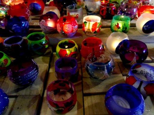 bougies colorées