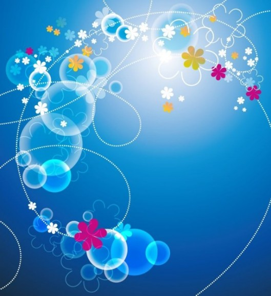 abstrait-bleu-floral-vector_53-7216