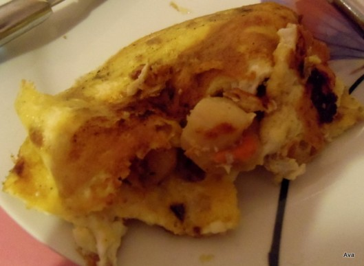 omelette aux coquilles st jacques