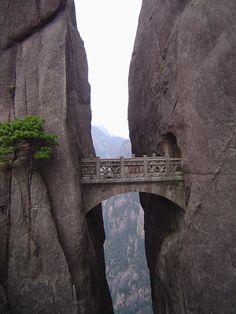 stone, rocks, mountains, bridge, arch, historic, view, vista
