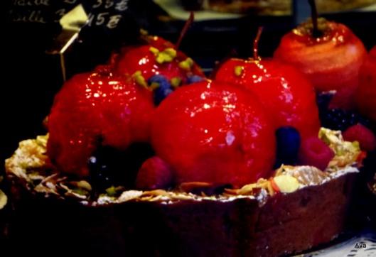 pommes d'amour, gâteau, rond