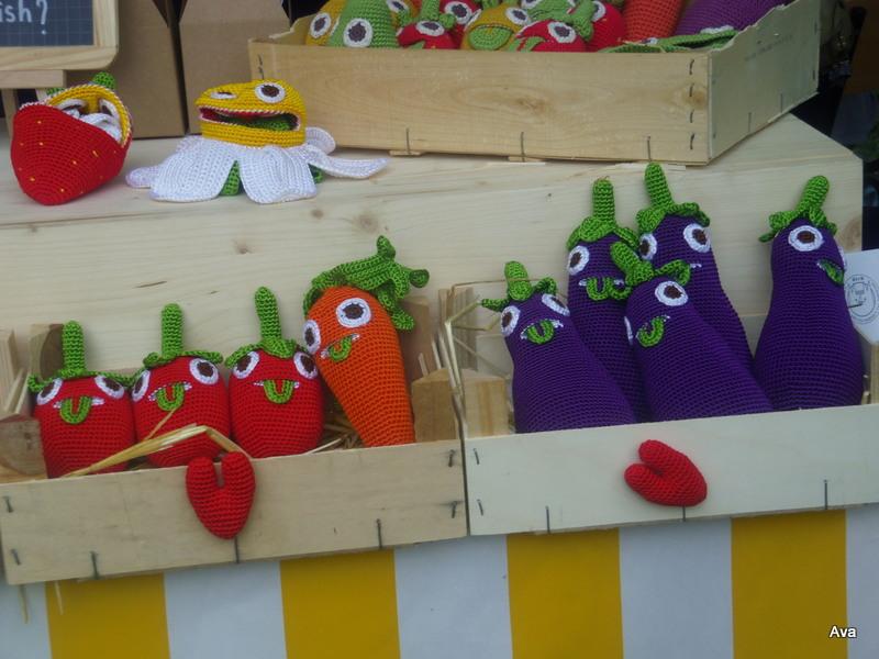 fruits, légumes, jouets