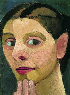 p4 Paula Modersohn-Becker (1876-1907) Self Portrait with Hand on Chin 1906