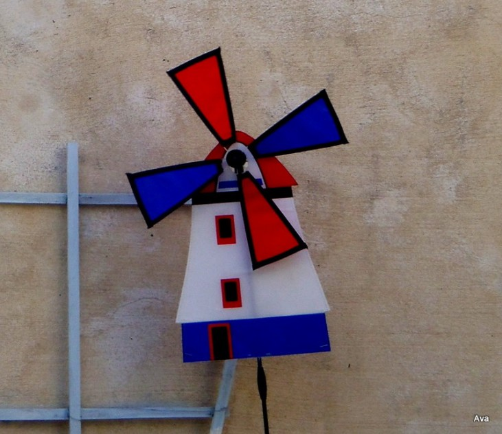 moulin, bleu blanc rouge