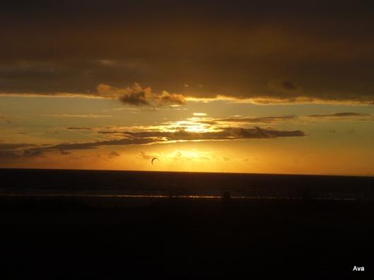 coucher de soleil, Manche, Siouville