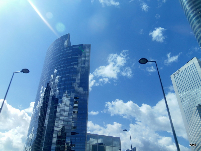 clouds in towers