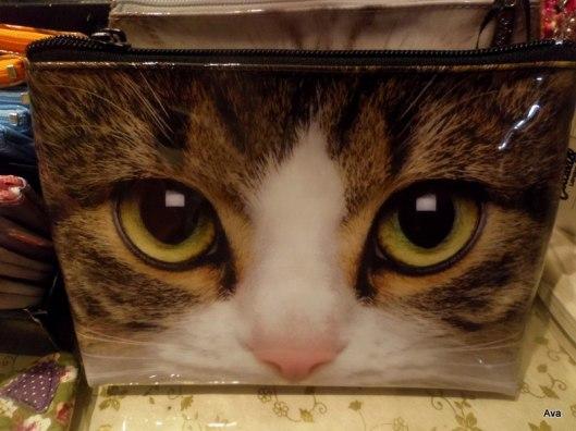 yeux de chat trousse