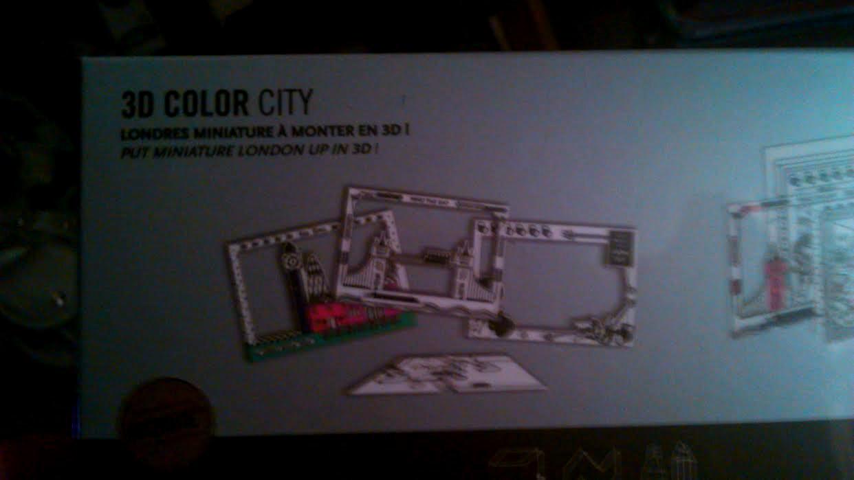 londres miniature à colorier et à monter en 3 D