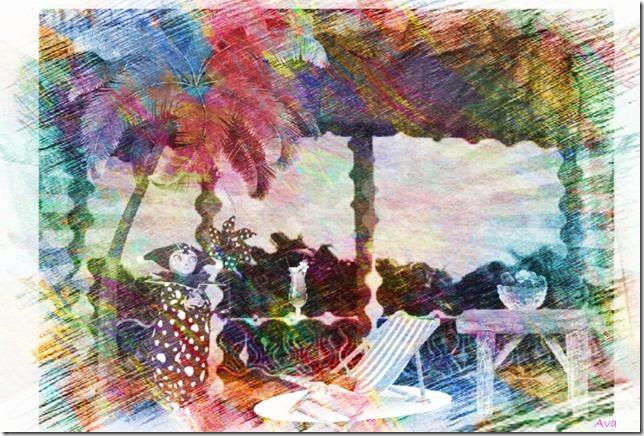 terrasse tropicale signée