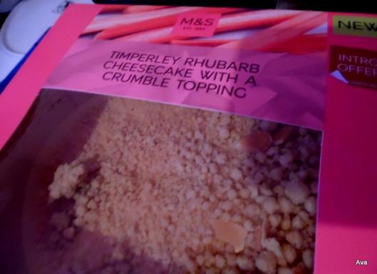 cheescake rhubarbe