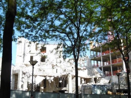 broken, demolition, destructin