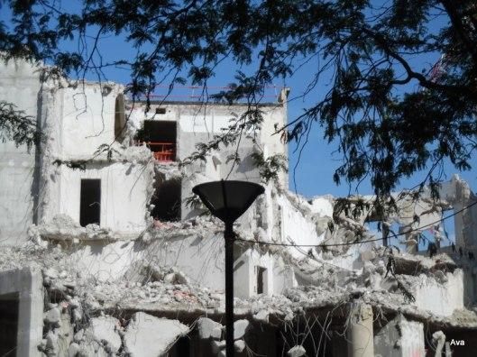 broken demolition destruction