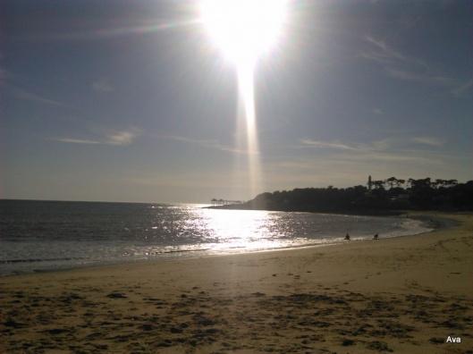plage St Palais sur Mer light