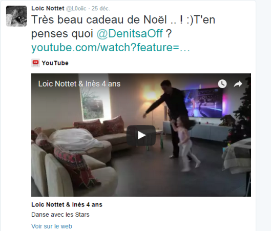 Capture réaction de Loic Nottet
