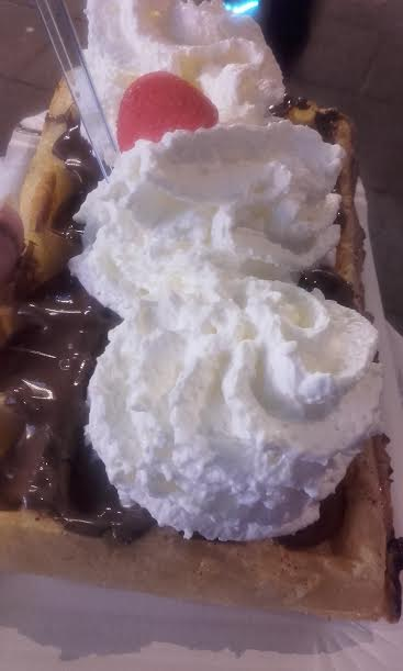 gaufre nutella chantilly