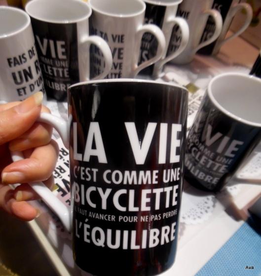 la vie est comme une bicyclette