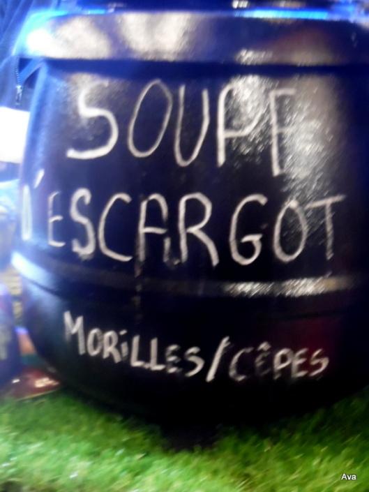 soupe d'escargots