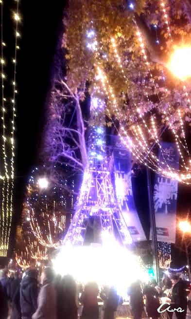 Tour Eiffel mauve