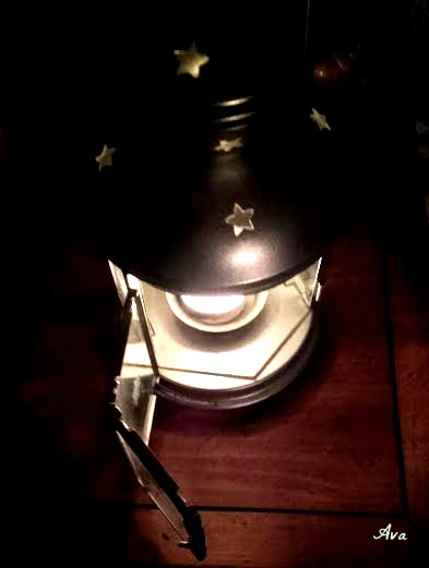 candle in lantern