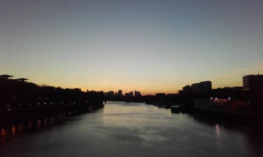 Panorama vue sur la Seine