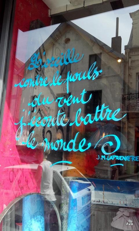 poèmes sur vitrines