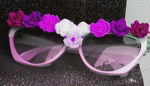 lunettes soleil fleuries