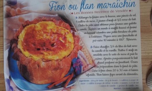 recette du fion ou flan maraîchin