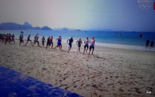 départ triathlon jo rio 2016