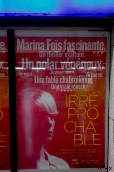 affiche film irreprochable dans le métro
