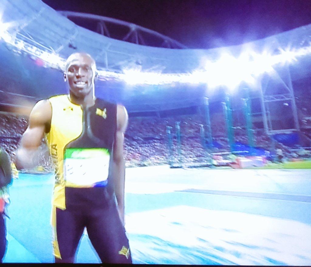 Usain Bolt médaille d'or du 100 M