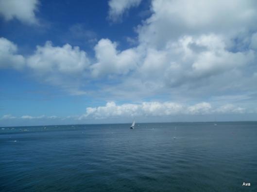 mer et ciel en camaïeu