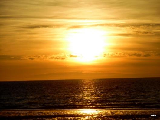 coucher de soleil à Deauville