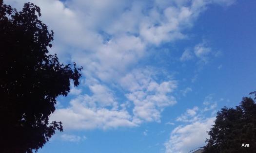 un peu de ciel bleu